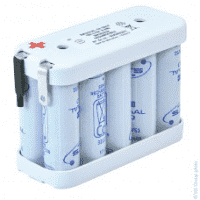 Batterie Pack Accu avec Flasque, SAFT 10VTAA, 12V 600mAH
